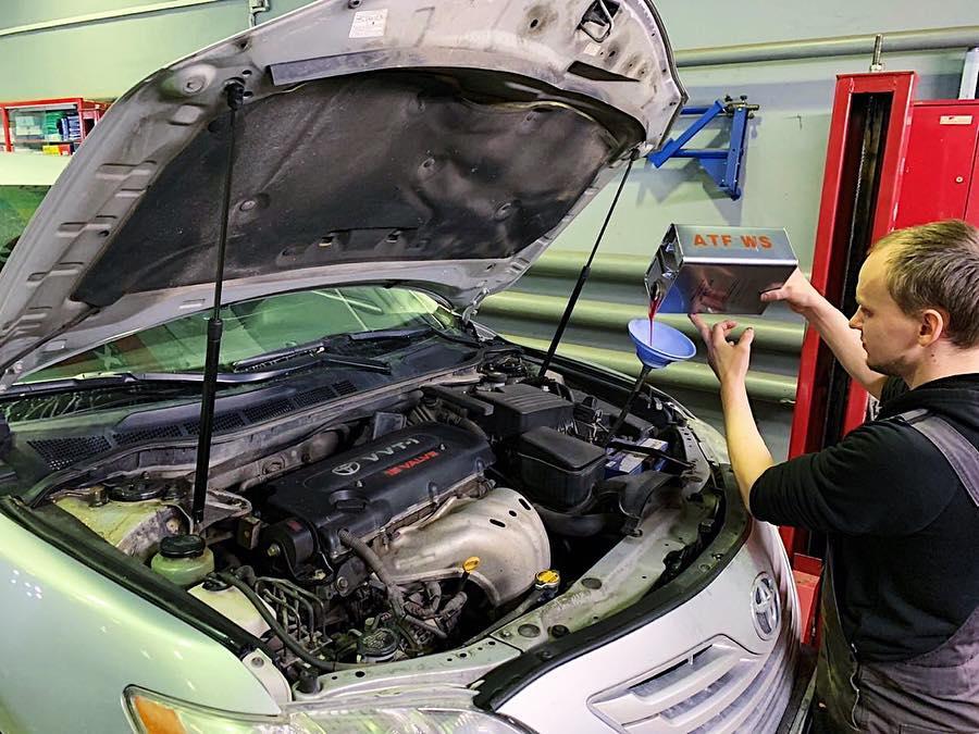 Егорьевск. Замена масла АКПП на Toyota Camry